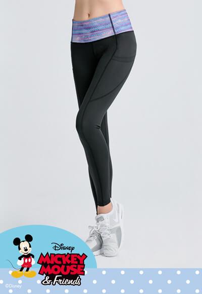 魔幻米奇美型塑腰活腿壓力褲(魔幻藍 女S-2XL)
