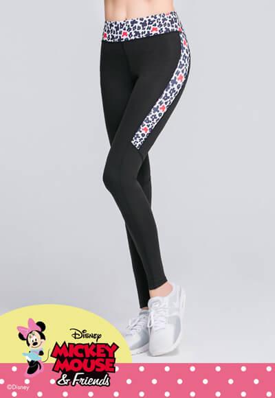 豹紋米妮纖腿曲線活腿壓力褲(黑白色 女S-XL)