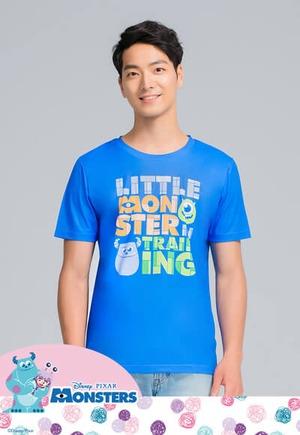 小怪獸Logo防曬排汗涼感衣(琉璃藍 男M-2XL)