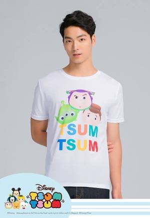 胡迪夥伴TsumTsum防曬排汗涼感衣(純淨白 男M-2XL)
