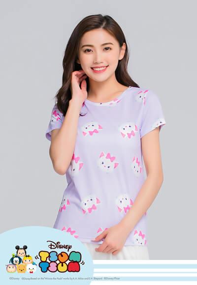 瑪麗貓TsumTsum防曬排汗涼感衣(薰衣紫 女S-XL)