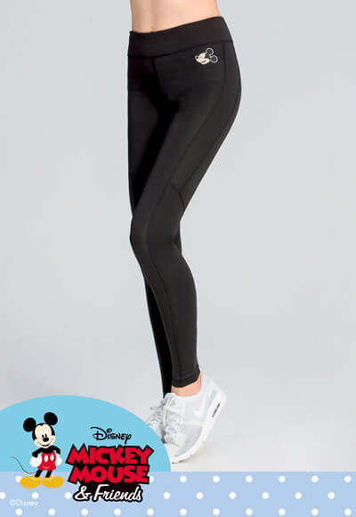 經典米奇纖腿曲線活腿壓力褲(經典黑 女S-2XL)