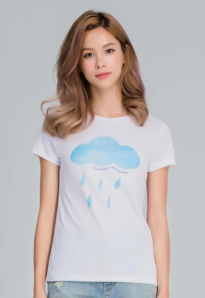 雨過天晴防曬排汗涼感衣(純淨白 女M-2XL)