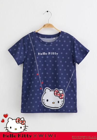 包包Hello Kitty防曬排汗涼感衣(湛海藍 童100-150)