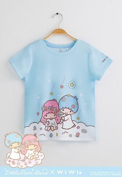 雲朵雙星仙子防曬排汗涼感衣(天空藍 童100-150)