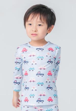 救難小車溫灸刷毛圓領發熱衣(水漾藍 童70-90)