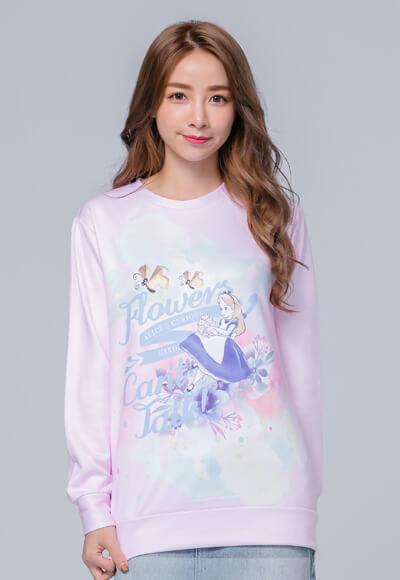 水彩Alice炙熱刷毛短版發熱衫(戀愛粉 女M-3XL)