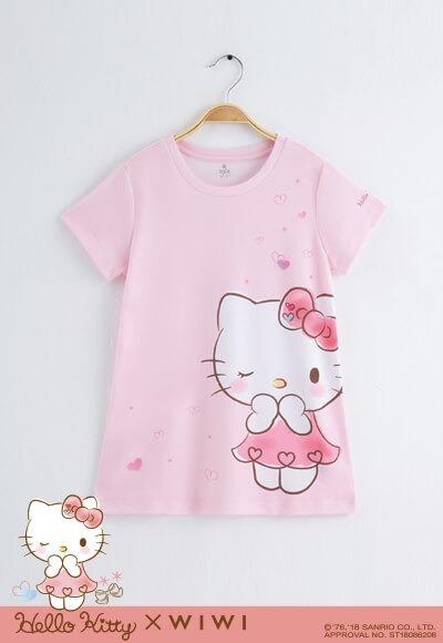 啾咪Hello Kitty防曬排汗長版涼感衣(戀愛粉 童100-150)