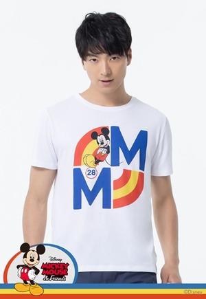 28米奇防曬排汗涼感衣(純淨白 男M-3XL)