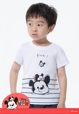 樂趣TsumTsum防曬排汗涼感衣 (純淨白 童100-150)