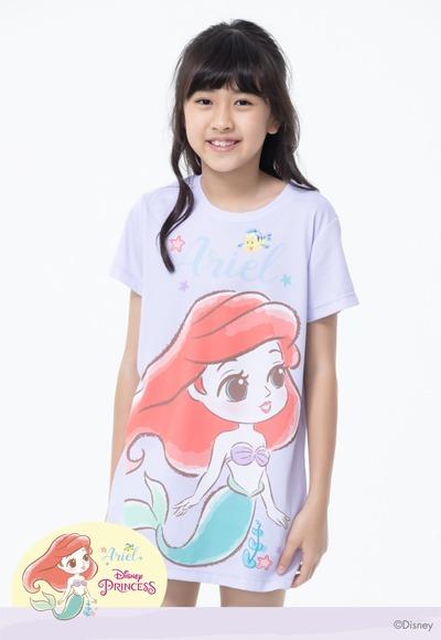Q版Ariel防曬排汗涼感衣(薰衣紫 童100-150)