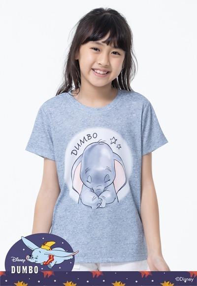 平靜小飛象防曬排汗涼感衣(麻花灰 童100-150)
