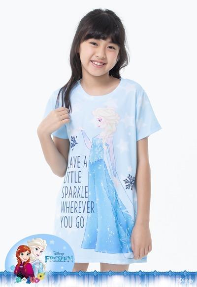 冰潔艾莎防曬排汗涼感衣(天空藍 童100-150)