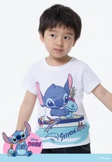 啟航史迪奇防曬排汗涼感衣(純淨白 童100-150)