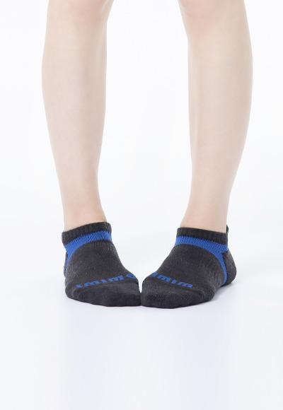活力運動抑菌船型除臭襪(黑藍色 女M-XL)