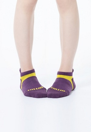 活力運動抑菌船型除臭襪(紫黃色 女M-L)