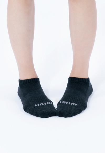 舒適休閒抑菌船型除臭襪(經典黑 女M-L)