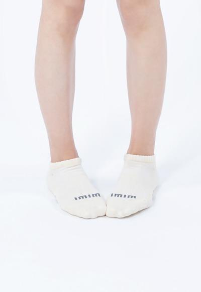 舒適休閒抑菌船型除臭襪(米黃白 女M-L)