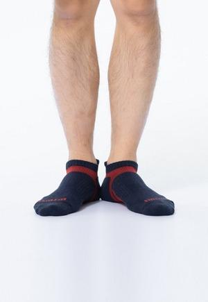 活力運動抑菌船型除臭襪(軍藍紅 男M-XL)