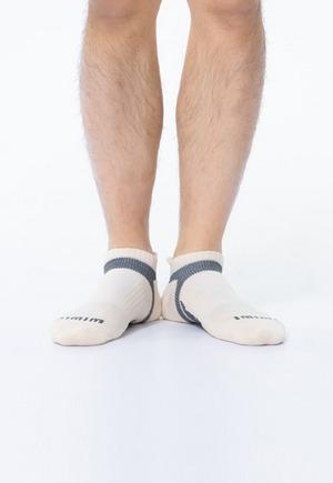 活力運動抑菌船型除臭襪(米灰色 男M-XL)