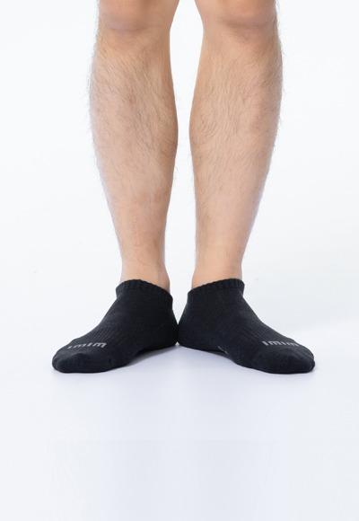 舒適休閒抑菌船型除臭襪(經典黑 男M-L)