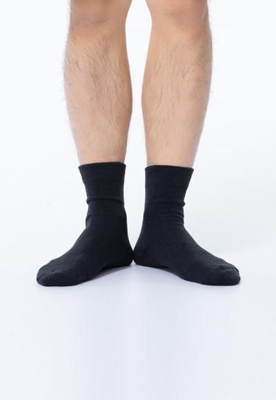 自信紳士抑菌中筒除臭襪(經典黑 男L-XL)