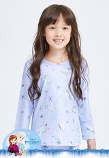 情深艾莎溫灸刷毛圓領發熱衣(芋泥紫 童100-150)