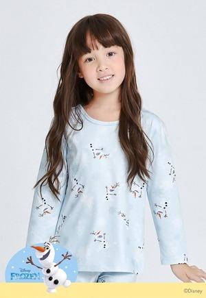 歡欣雪寶溫灸刷毛圓領發熱衣(灰綠色 童100-150)