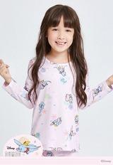 朝氣小飛象溫灸刷毛圓領發熱衣(戀愛粉 童100-150)