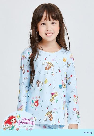 悠揚公主溫灸刷毛圓領發熱衣(天空藍 童100-150)