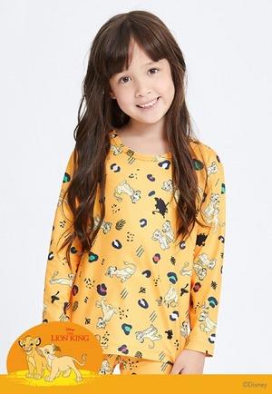 活蹦辛巴溫灸刷毛圓領發熱衣(甜橘紅 童100-150)