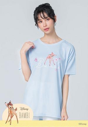 櫻旅小鹿斑比防曬排汗寬版涼感衣(天空藍 女S-2XL)