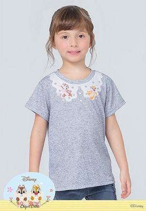 櫻漾奇奇蒂蒂防曬排汗短版涼感衣(麻花灰 童100-150)