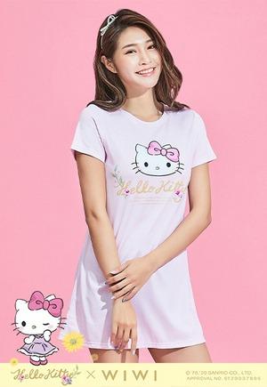 花園Hello Kitty防曬排汗長版涼感衣(戀愛粉 女S-3XL)