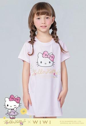 花園Hello Kitty防曬排汗長版涼感衣(戀愛粉 童100-150)