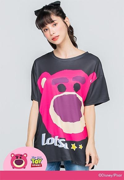 熊抱哥Tsum Tsum防曬排汗寬版涼感衣(經典黑 女S-2XL)