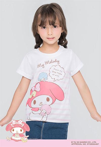 溫雅美樂蒂防曬排汗涼感衣(純淨白 童100-150)