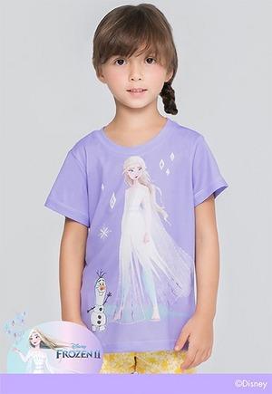 紫冰艾莎防曬排汗短版涼感衣(薰衣紫 童100-150)