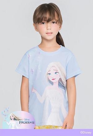 紫晶艾莎防曬排汗短版涼感衣(天空藍 童100-150)