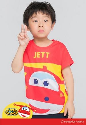 活力杰特防曬排汗短版涼感衣(朝陽紅 童80-130)