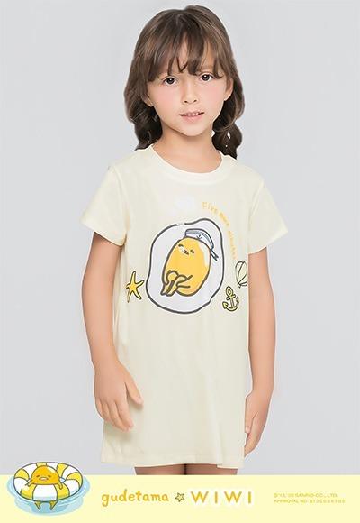 深海蛋黃哥防曬排汗長版涼感衣(奶油黃 童100-150)