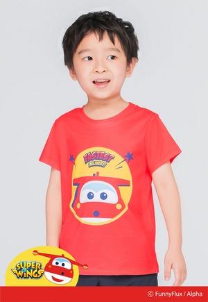 熱力杰特防曬排汗短版涼感衣(朝陽紅 童80-130)