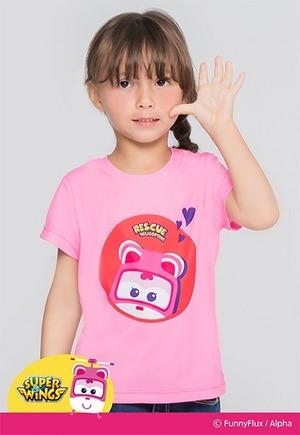 粉紅蒂蒂防曬排汗短版涼感衣(戀愛粉 童80-130)