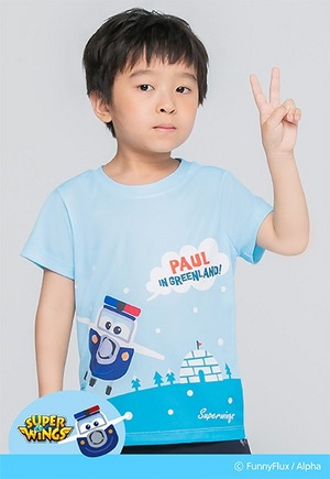 ICE保羅防曬排汗短版涼感衣(天空藍 童80-130)