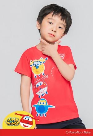 杰特夥伴防曬排汗短版涼感衣(朝陽紅 童80-130)