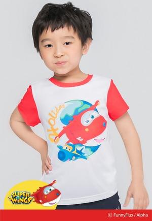 歡樂杰特防曬排汗短版涼感衣(純淨白 童80-130)
