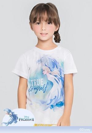 勇敢艾莎防曬排汗短版涼感衣(純淨白 童100-150)