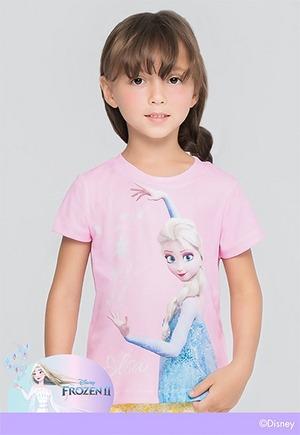 粉色魔法艾莎防曬排汗短版涼感衣(戀愛粉 童100-150)
