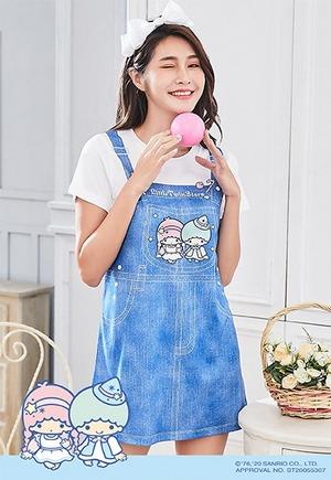 童話雙星仙子吊帶防曬排汗長版涼感衣(丹寧藍 女S-3XL)