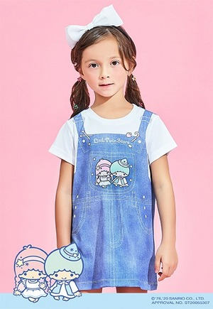童話雙星仙子吊帶防曬排汗長版涼感衣(丹寧藍 童100-150)